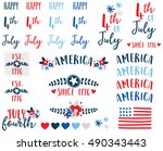 independence day word art | Shutterstock .eps vector #490343443