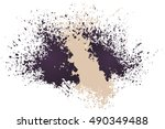 bright background with splashes.... | Shutterstock .eps vector #490349488
