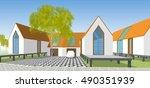 park   landscape  abstract... | Shutterstock . vector #490351939
