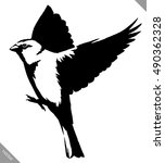 black and white paint draw tit... | Shutterstock .eps vector #490362328