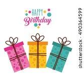 happy birthday celebration card ...   Shutterstock .eps vector #490364599