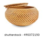 Wicker Box For Clothes Yellow...