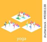 isometric interior of yoga... | Shutterstock . vector #490381138