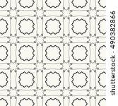 black and white seamless... | Shutterstock .eps vector #490382866
