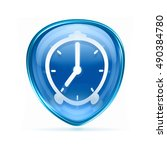 clock icon blue  isolated on... | Shutterstock . vector #490384780