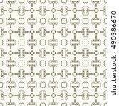 seamless geometric pattern ... | Shutterstock .eps vector #490386670