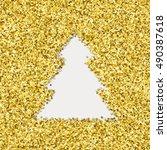 vector christmas tree symbol ... | Shutterstock .eps vector #490387618