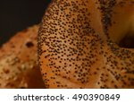 macro close up of poppy seed... | Shutterstock . vector #490390849