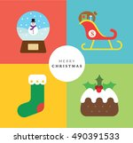 christmas icon set ii | Shutterstock .eps vector #490391533