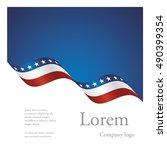 new brochure abstract design... | Shutterstock .eps vector #490399354