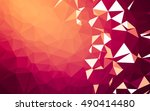abstract low poly background ... | Shutterstock . vector #490414480