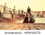 Travel Europe. Young Couple In...