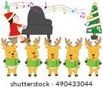 the christmas concert of santa...   Shutterstock .eps vector #490433044