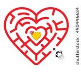 Heart Shaped Maze   Illustration