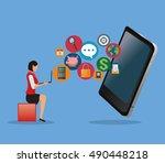 app development technology... | Shutterstock .eps vector #490448218