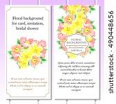 vintage delicate invitation... | Shutterstock .eps vector #490448656