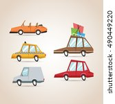 cars cartoons icon set design | Shutterstock .eps vector #490449220