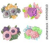 flower set | Shutterstock .eps vector #490450810