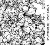 abstract elegance seamless... | Shutterstock . vector #490453576