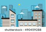 city landscape vector... | Shutterstock .eps vector #490459288