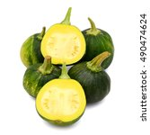 Small photo of acorn squash isolated on white