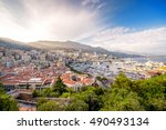 cityscape view on the bay with... | Shutterstock . vector #490493134