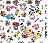 fashion sale and special offer... | Shutterstock .eps vector #490494970