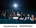 big screen nights. shot of... | Shutterstock . vector #490499464