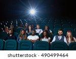 big screen nights. shot of... | Shutterstock . vector #490499464