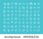 set vector line icons with open ... | Shutterstock .eps vector #490506226