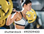 weight lifting | Shutterstock . vector #490509400