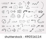 vector hand drawn arrows.doodle ... | Shutterstock .eps vector #490516114