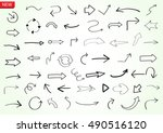 vector hand drawn arrows.doodle ... | Shutterstock .eps vector #490516120