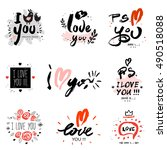 i love you  illustration and... | Shutterstock .eps vector #490518088