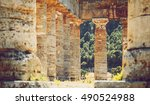 the famous temple of segesta in ... | Shutterstock . vector #490524988