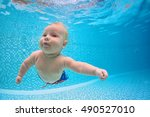 funny photo of active baby... | Shutterstock . vector #490527010