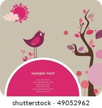 cute bird  lovely design | Shutterstock .eps vector #49052962