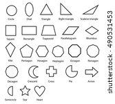 geometric shapes vector  | Shutterstock .eps vector #490531453