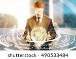 young businessperson in suit... | Shutterstock . vector #490533484
