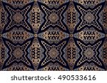 vector seamless gold pattern... | Shutterstock .eps vector #490533616