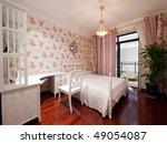 bedroom interior with beautiful ... | Shutterstock . vector #49054087