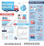 delivery service   info poster  ... | Shutterstock .eps vector #490545250