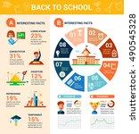 back to school poster template... | Shutterstock . vector #490545328