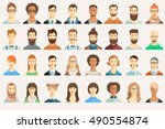 set of avatar icons. | Shutterstock .eps vector #490554874