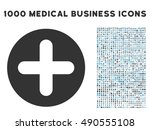 create icon with 1000 medical... | Shutterstock .eps vector #490555108