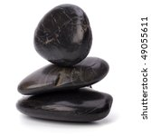 Zen Stones Isolated On White...
