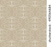 seamless texture with vintage... | Shutterstock .eps vector #490564684