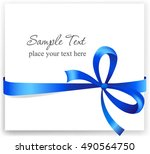 greeting card with a blue... | Shutterstock .eps vector #490564750