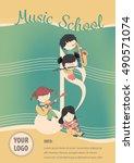 Music School Poster Vector  ...