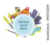 winter sport gear vector... | Shutterstock .eps vector #490572649